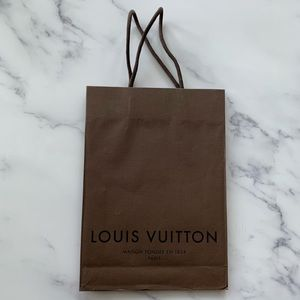 Louis Vuitton Brown Paper Shopping Gift Bag